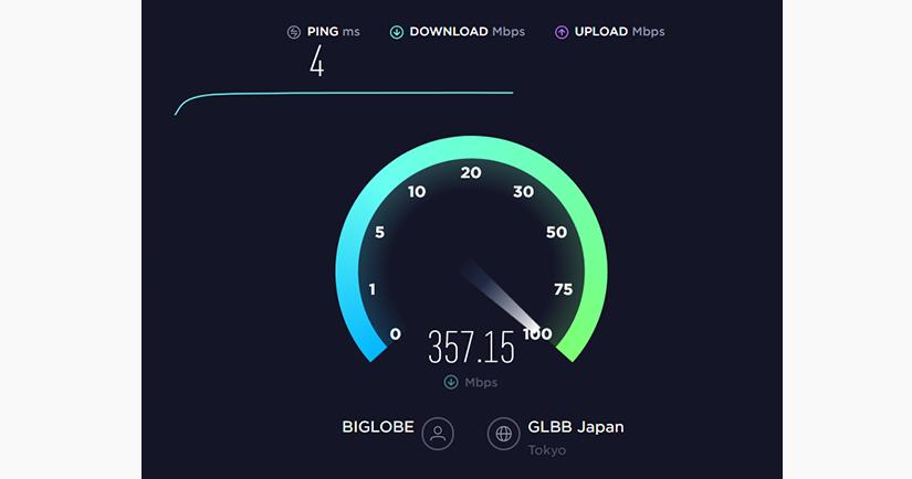 WiFiから有線に戻したら回線速度が3.5倍になった話